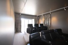 Thick curtains are perfect for a media room or home theatre. Cosy up and enjoy a movie with the family! Home Theater, Theatre, Thick Curtains, Media Rooms, Be Perfect, Cosy, Movie, Interior Design, Luxury
