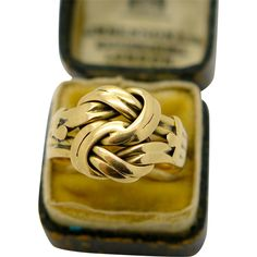 Antique English Edwardian 18k Gold Lovers Knot Ring , 1910 from Georgian Gold at RubyLane.com