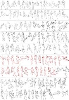 Gesture studies ✤ || CHARACTER DESIGN REFERENCES | キャラクターデザイン | • Find more at…