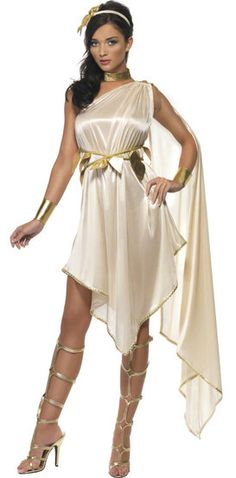 Goddess Costume Adult Greek or Roman Toga Halloween Fancy Dress Outfit Goddess Fancy Dress, Toga Fancy Dress, Roman Goddess Costume, Toga Party, Empire Romain, Egyptian Costume, Birthday Party Outfits, Sexy Halloween Costumes, Costume Dress