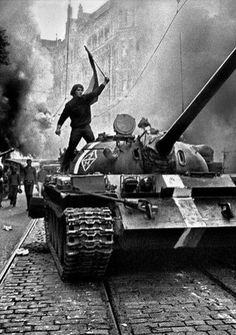 Josef Koudelka: the man who risked his life to photograph the Soviet invasion of Czechoslovakia – in pictures Marie Curie, Prague Spring, T 62, Warsaw Pact, Henri Cartier Bresson, Magnum, Political Events, Berlin Wall, First Photograph