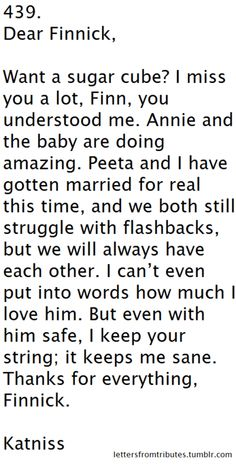 To Finnick ♥ :')