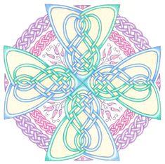 Keltisch kruis mandala