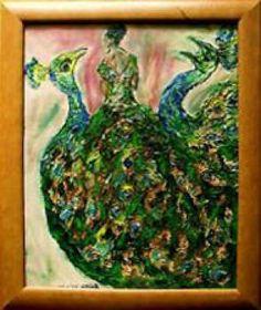 - En huile Robe-paon et les Paons En huile Robe-paon et les Paons Peinture l'huile et sur carton 39 x 49 cm - 1000gr (emball) 49 x 59 cm (avec encadrement) Pièce unique En huile Robe-paon et les Paons;Tableau abstrait de peinture à l'huile et sur carton au couteau en parfait état;Encadrement verre Largeur - 49 cm ; Longueur- 59 cmTableau abstrait Largeur - 39 cm ; Longueur- 49 cm
