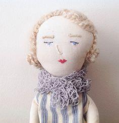 Poupée de chiffon / Poupée de tissus / Jacqueline poupée art textile / Poupée fait main / Poupée artistique
