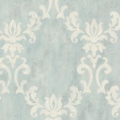 Brewster Home Fashions Onyx Renna Large Scroll Damask Wallpaper #Traditional