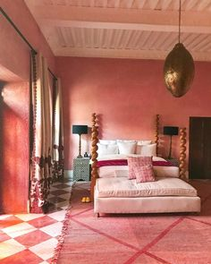 Pretty much our dream bedroom. So happy to discover this paint Marrakesh gorgeou… Pretty much our dream bedroom. So happy to discover this paint Marrakesh gorgeousness through Decor, Pink Home Decor, Bed Design, Dream Bedroom, Pink Bedroom, Bedroom Design, Luxurious Bedrooms, Home Decor, Retro Interior