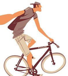 Fixie Illustrations by Thorsten Hasenkamm | Inspiration Grid | Design Inspiration