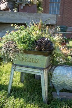 Your Own Hypertufa Container Beautiful succulent container inspiration. Learn how to make your own container through our link! Learn how to make your own container through our link!