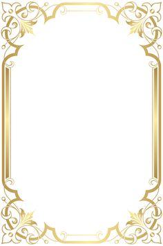 Gold Frame, Picture Frame - Photo Frame Transparent Image and Clipart Boarder Designs, Frame Border Design, Page Borders Design, Boarders And Frames, Art Frames, Wedding Invitation Background, Printable Frames, Certificate Design, Borders For Paper