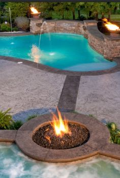 Fire bowls on pinterest patio fire pits fire pits and - Pool fire bowls ...