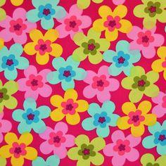 """Baumwollstoff """"Summertime"""" auf pink / Popeline Stoff aus 100% Baumwolle / Meterware / 50cm / R6-6-1: Amazon.de: Baumarkt"""