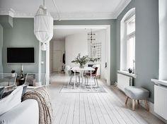 〚 Fresh and airy interior in Gothenburg sqm) 〛 ◾ Photos ◾Ideas◾ Design Home Interior, Interior Door, Interior Decorating, Decorating Ideas, Home Living Room, Living Room Decor, Living Spaces, Beautiful Interior Design, Beautiful Interiors