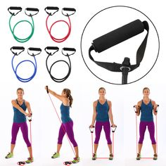 Elastische Resistance Band Übung Loop Home Gym Yoga Premium Fitness Bands Innen