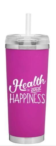 24oz Health & Happiness Pink Tumbler