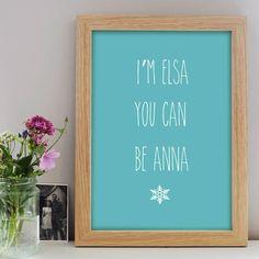 Personalised Frozen Print – Little Pieces