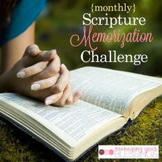 Come and join us as we start the new year off right with our monthly scripture memorization challenges! We are so excited to begin this new season with our phenomenal online community of Christian women! :: ManagingYourBlessings.com