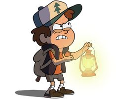 Dipper with a lantern by MF99K on DeviantArt