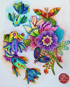 Color the Rainforest Colored Pencil Techniques, Arts And Crafts, Paper Crafts, Chapters Indigo, Coloring Book Pages, Adult Coloring, Colouring, Prismacolor, Colored Pencils