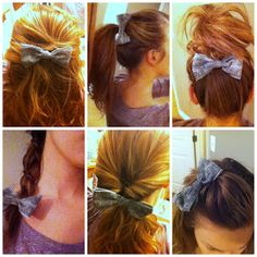how to wear a hair bow
