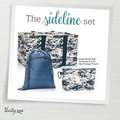 Get this set this month and save $25!  The Large Utility Tote only be $10!