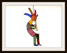 Colorful Kokopelli by jpglass on Etsy