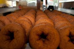 The best part of fall: the promise of warm, fresh from the fryer apple cider donuts from Cold Hollow Cider Mill in Waterbury, VT