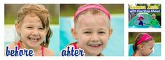 """Summer Lovin' with One Step Ahead & DailyMom!  """"If your little girl loves the pool, you know what a hassle it can be to keep the hair out of her eyes while she's diving in and out of the water, and practicing her newfound swimming skills. The Hair Away Swim Band is the newest and coolest way to tame """"Swimmer's hair!""""  This revolutionary headband keeps wet hair out of your child's face- especially underwater! The secret is that its wide, two strap design not only holds the hair back..."""""""