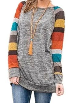 10cd058e1a799b HARHAY Women's Cotton Knitted Long Sleeve Tunic Sweatshirt Tops Round  neck,long sleeve, soft materia