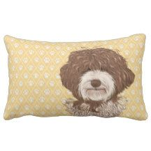 Labradoodle Love™: products on Zazzle Labradoodle Dog, Australian Labradoodle, Lumbar Pillow, Throw Pillows, Cartoon, Yellow, Illustration, Dogs, Painting