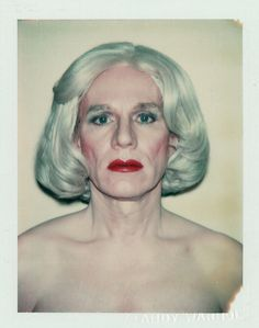 Self-portrait (polaroid) of Andy Warhol. Andy Warhol was one weird dude. Just sayin' Andy Warhol, Pop Art, Michel De Montaigne, Polaroid Photos, Alfred Hitchcock, Cultura Pop, Famous Faces, American, Pittsburgh