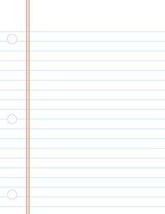 digital printable: notebook paper