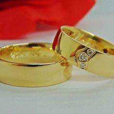 Alianças de Casamento e Noivado em Ouro 18k - WM Jóias
