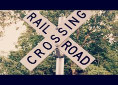 cool edit of train crossing sign Photo by me Leila Hale Photography https://www.facebook.com/LeilaHalePhotography