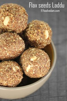 Flax seeds Laddu is part of Flax seed recipes - Flax seeds Laddu recipe with step by step instructions Healthy Homemade Snacks, Healthy Indian Recipes, Indian Dessert Recipes, Indian Snacks, Sweets Recipes, Snack Recipes, Cooking Recipes, Indian Sweets, Healthy Bars