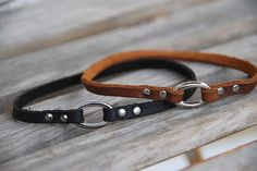 Custom Leather Dog Collar Necklace for ID Tags or Charms Rustic Boho Southwestern Bohemian Western Dog Collar Necklace on Etsy, $18.00