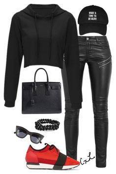 """""""Untitled #91"""" by clynnstyle on Polyvore featuring Yves Saint Laurent, Balenciaga, Quay and Bling Jewelry"""