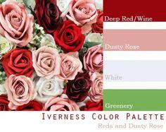$250 Wedding Flower Package in deep red, burgundy, wine, dusty rose, mauve Wedding Color Pallet, Pink Wedding Theme, Red Wedding Flowers, Dusty Rose Wedding, Summer Wedding Colors, Wedding Color Schemes, Colour Schemes, Farm Wedding, Color Combinations