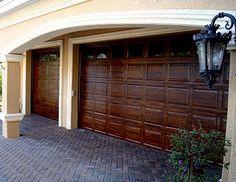 Faux Wood Carriage Garage Door Tutorial Carriage doors Garage