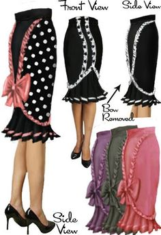 Rockabilly Pinup Ruffle Skirt by Amber Middaugh/ Raiven H/ and Patricia Sipes Pin Up Outfits, Pretty Outfits, Cool Outfits, Fashion Outfits, Rockabilly Fashion, Retro Fashion, Vintage Fashion, Womens Fashion, Rockabilly Dresses