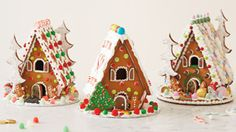 How to Make a Gingerbread House: Step-by-Step Photos & Instructions | Bake up Christmas cheer with a homemade gingerbread house! Includes gingerbread house recipe, patterns and fun decorating ideas. #Hallmark #HallmarkIdeas