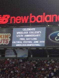 Did you catch Wheelock on the Jumbo tron at Fenway Park? Consider yourself invited - wheelock.edu/festival. Thanks to the Boston Red Sox Foundation for their sponsorship.