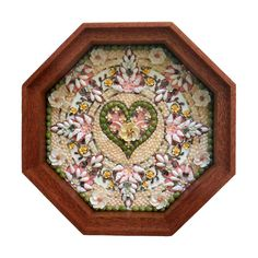 "Sailors Valentine -  Sea shell art - Piece of Heaven, 7"", $2,000.00"