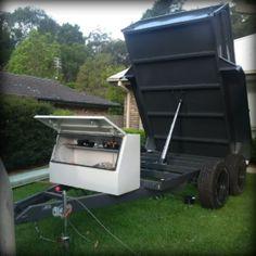 Troys Hydraulic Tipping Trailer trailer plans www.trailerplans.com.au