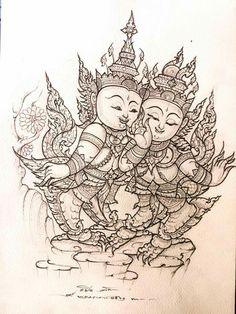 Thai Design, Thai Pattern, Thai Tattoo, Thai Art, Pattern Drawing, Art World, Designs To Draw, Tattoo Designs, Sketch