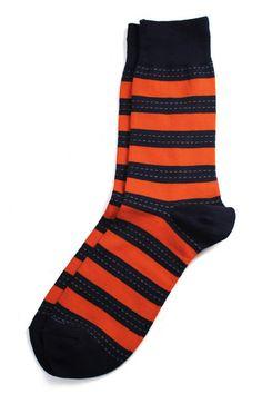Richer Poorer Outlaw Orange Socks