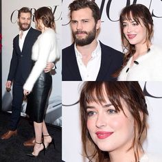 Jamie Dornan and Dakota Johnson looking cute promo for Fifty Shades of Grey