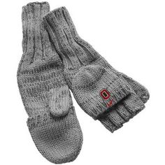 Nike Ohio State Buckeyes Ladies Charcoal Knit Convertible Mittens