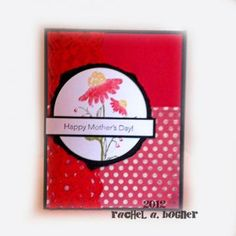 Mothers Day Flowers in Red - Card