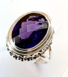 Sterling silver amethyst ring. Available at Silver Street on 14530 Memorial Drive, Houston, Tx. 77079